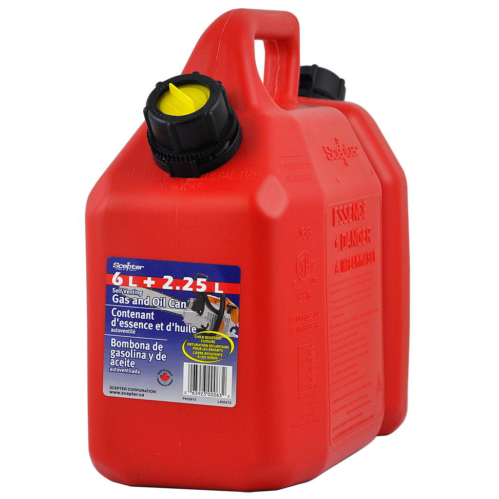 SCEPTER FUEL & OIL COMBINATION CAN 6L / 2.5L